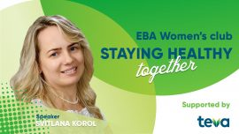 "EBA Women's club: «Staying healthy together», meeting ""Risk factors for heart disease and how to avoid them"""
